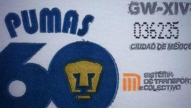 El STC Metro emitió un boleto conmemorativo por los 60 años de Pumas