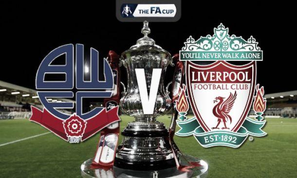 Score match Bolton Wanderers 1-2 Liverpool