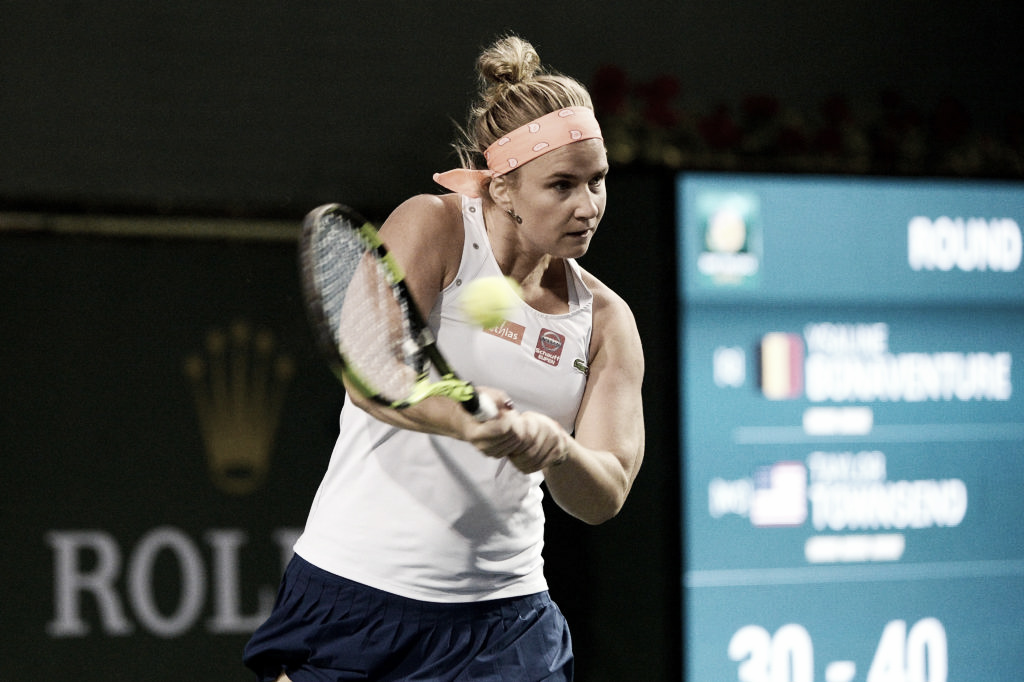 Bonaventure conquista quarta virada consecutiva e elimina Vekic em Indian Wells