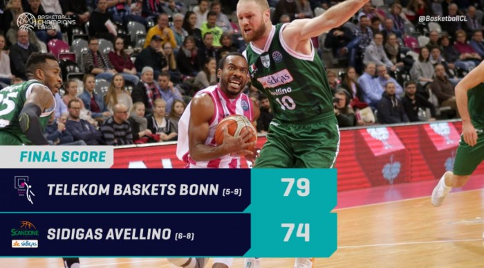 Telekom Bonn-Sidigas Avellino 79-74: Scandone eliminata dalla Champions League