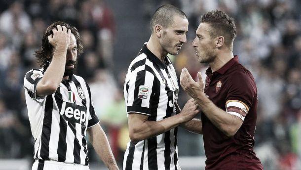 Juventus - Roma, Bonucci risolve la corrida