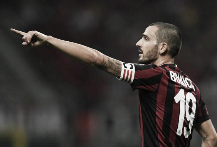 Bonucci releva 'polêmica' com empresário de Donnaruma por braçadeira do Milan