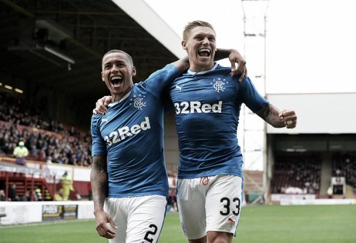 Rangers bate Motherwell fora de casa e larga bem no grupo F da Copa da Liga Escocesa