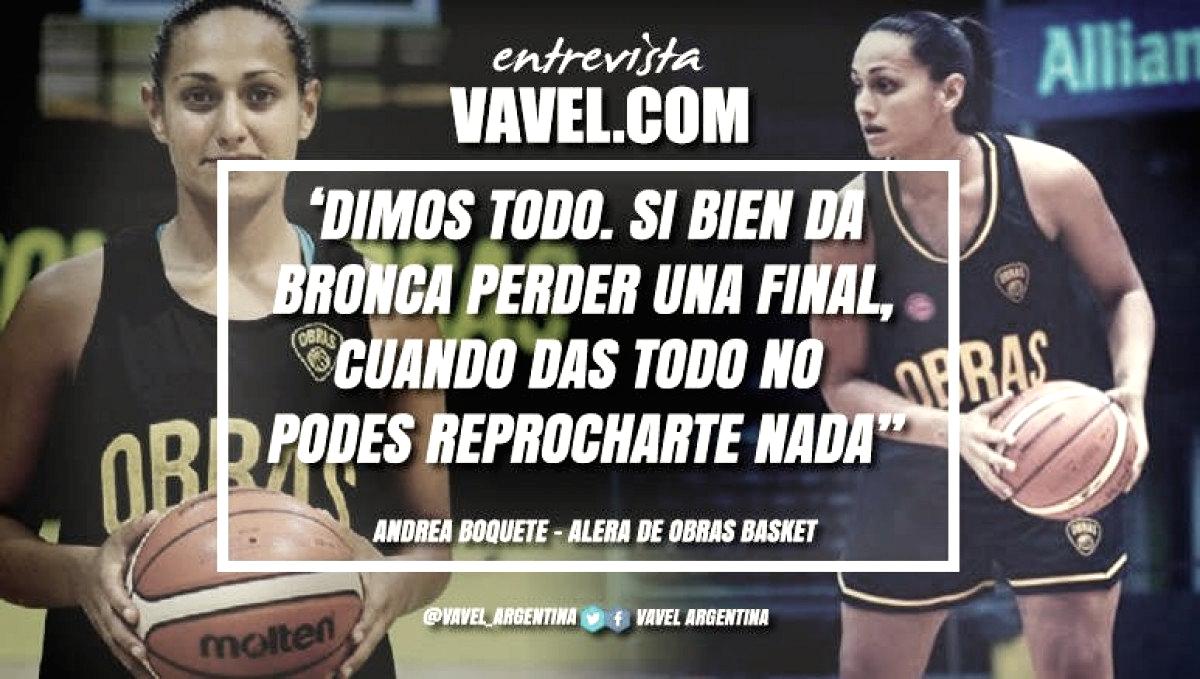 """Andrea Boquete: """"Se están haciendo cosas importantes por el básquet femenino"""""""