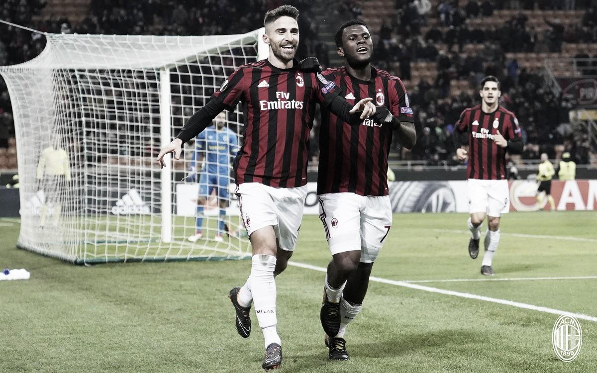 Europa League - Tutto semplice per il Milan: 1-0 al Ludogorets e ottavi centrati