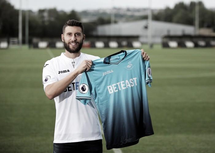 Swansea City sign Borja Baston for club record fee