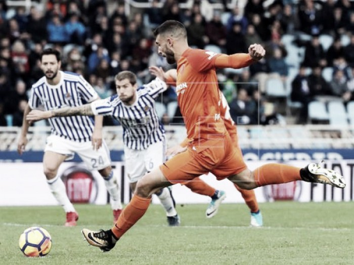 Dos penaltis a favor, algo poco habitual en el Málaga