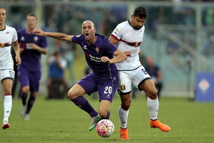 Genoa Vs Fiorentina in Serie A 2015/2016 (0-0)