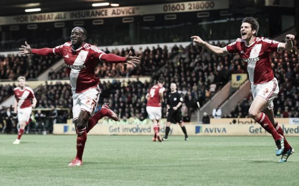 Norwich 0-1 Middlesbrough: Tettey own goal sends Middlesbrough top of the table