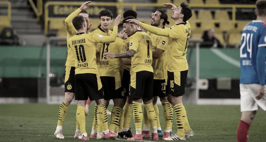Em noite perfeita, Borussia Dortmund goleia Holstein Kiel e pega RB Leipzig na final da DFB Pokal