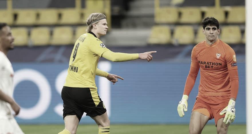 Haaland brilha, Borussia Dortmund elimina Sevilla e avança na Champions