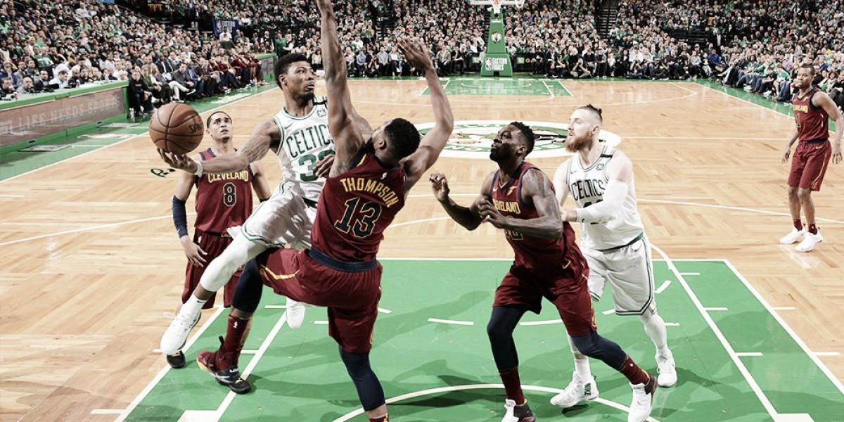 Celtics anulam Lebron James e vencem Cavaliers na primeira partida da final de conferência