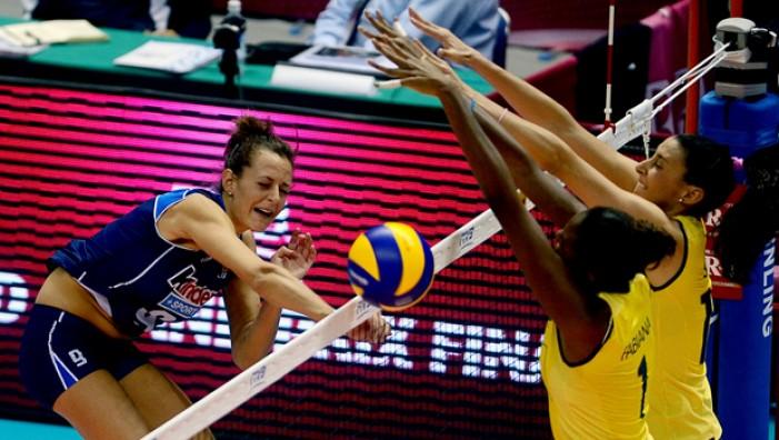 Volley femminile - L'Italia inizia il suo World Grand Prix cedendo al Brasile