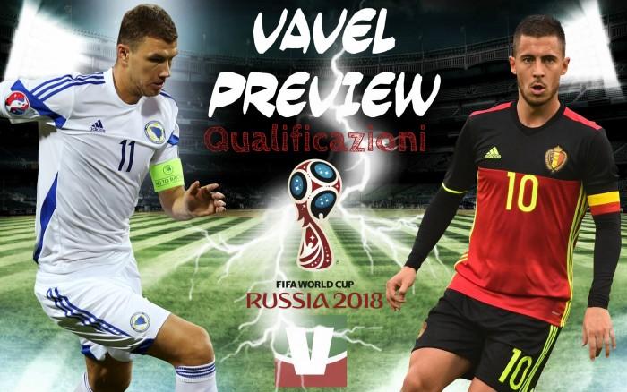 Qualificazioni Russia 2018 - Bosnia, contro il Belgio per sperare ancora