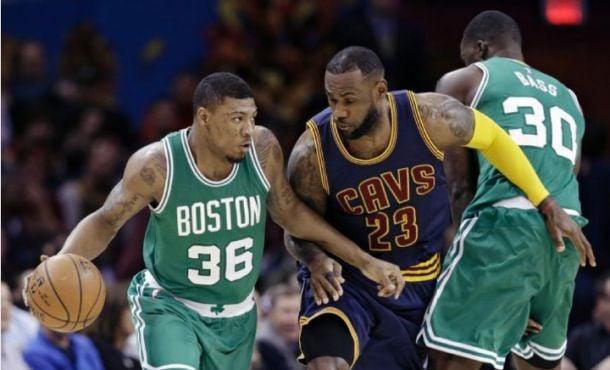 Boston Celtics - Cleveland Cavaliers Live Score in 2015 NBA Playoffs Game 1 (100-113)
