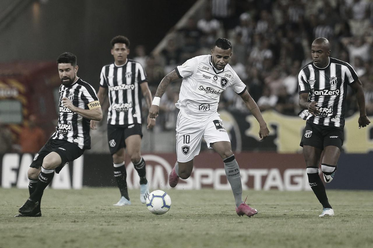 Falta de pontaria e domínio nordestino ditam ritmo entre Ceará e Botafogo