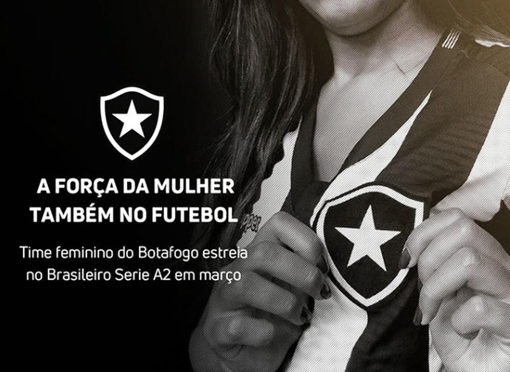 Próximo de estrear no Brasileirão da Série A2, Botafogo fecha novo patrocínio para o futebol feminino