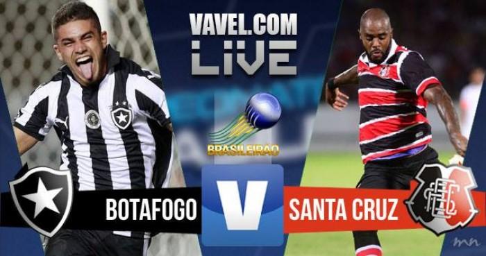 Resultado Botafogo x Santa Cruz na Série A do Campeonato Brasileiro (2-1)