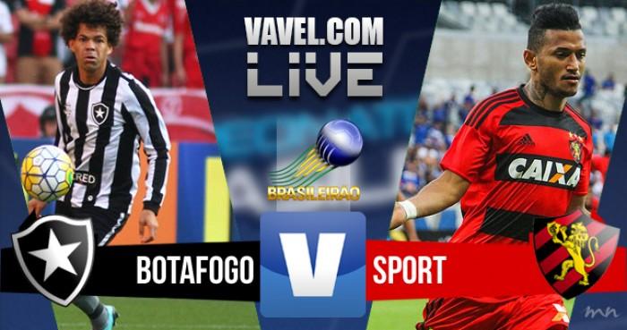 Resultado Botafogo x Sport na Série A do Campeonato Brasileiro (3-0)