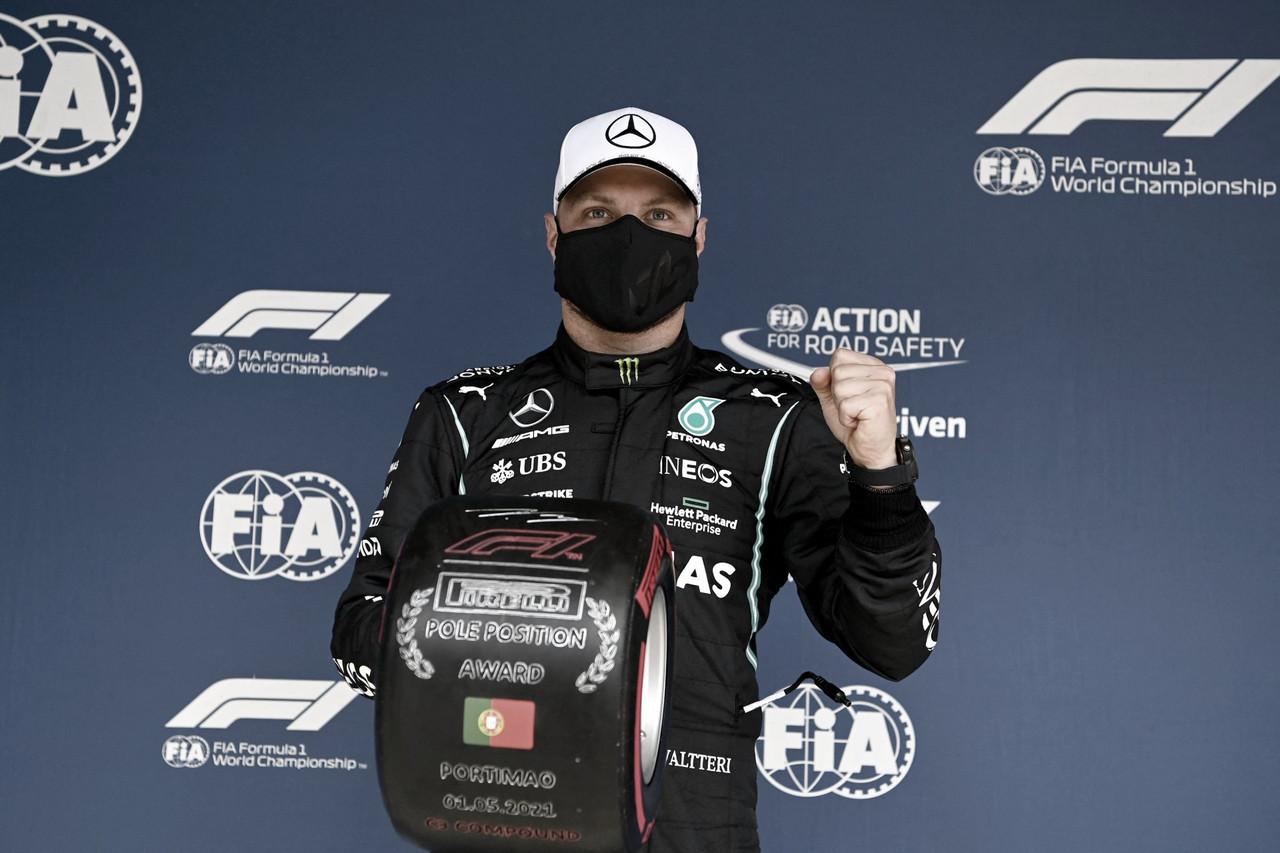 Bottas comemora trabalho e dá dicas para a corrida após pole no GP Portugal