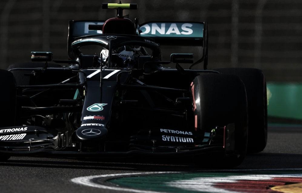 Valtteri Bottas durante la clasificación en el trazado de Ímola (Fuente: F1)