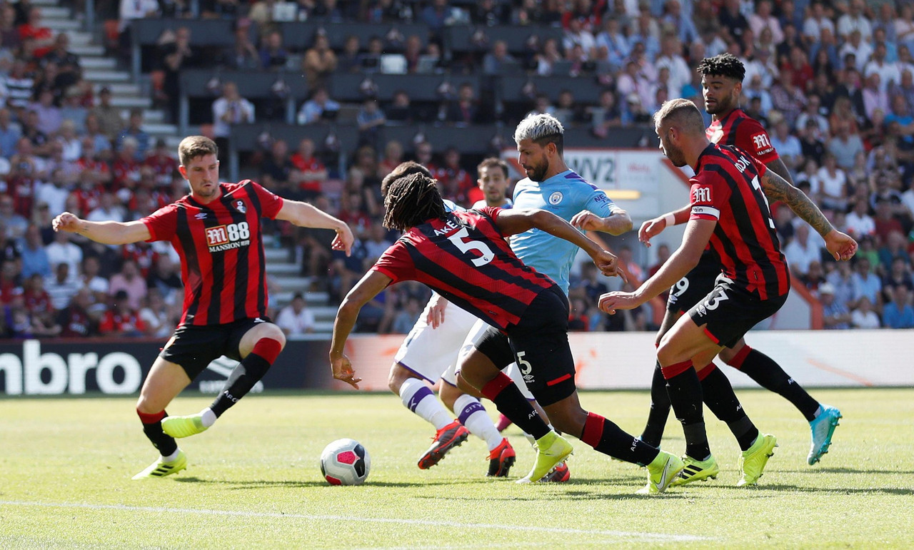 Premier League - Il City supera senza problemi il Bournemouth: Aguero e Sterling firmano l'1-3
