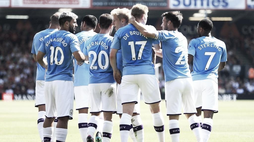Agüero marca duas vezes, e City vence Bournemouth pela Premier League