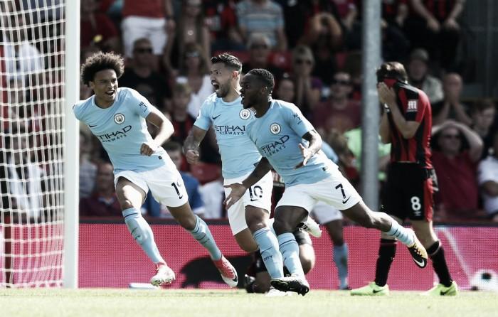 Premier League - Sterling manda il City in paradiso al 97': 2-1 sul Bournemouth