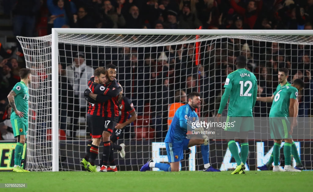 AFC Bournemouth 3-3 Watford: Cherries come from behind twice in thrilling first-half