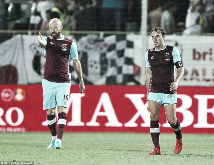 Astra Giurgiu 1-1 West Ham United: Hammers frustrated by late Alibec equaliser