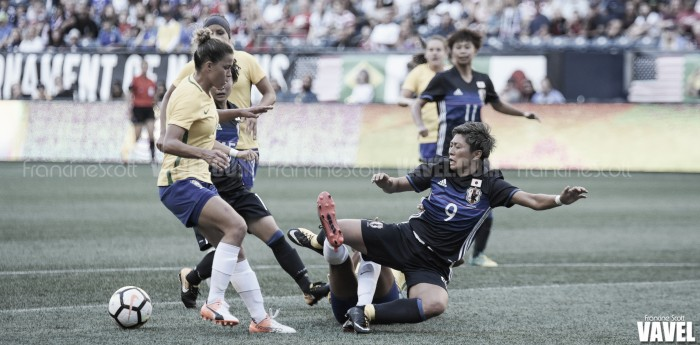 Brazil and Japan end an engaging encounter in a 1-1 draw