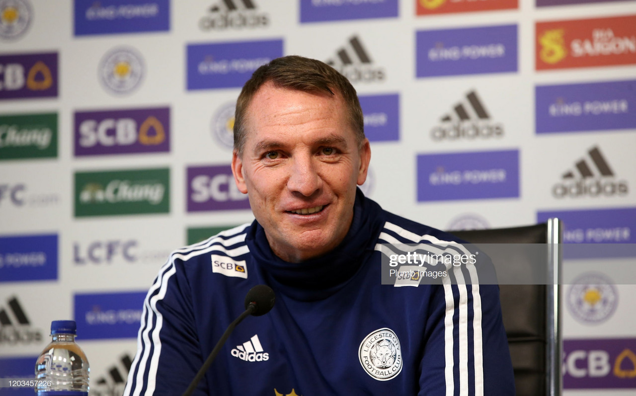 Rodgers believes Foxes are in a 'brilliant position' ahead of Villa clash