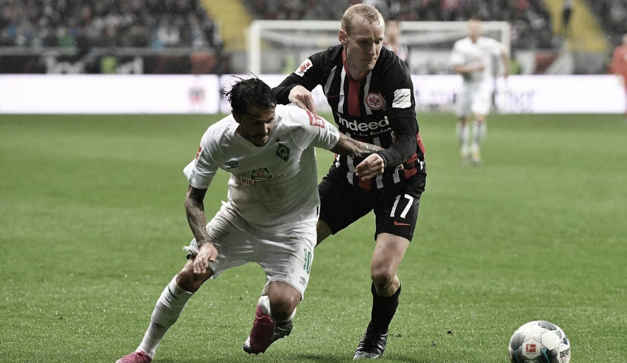 Em final disputado, Eintracht Frankfurt empata com Werder Bremen