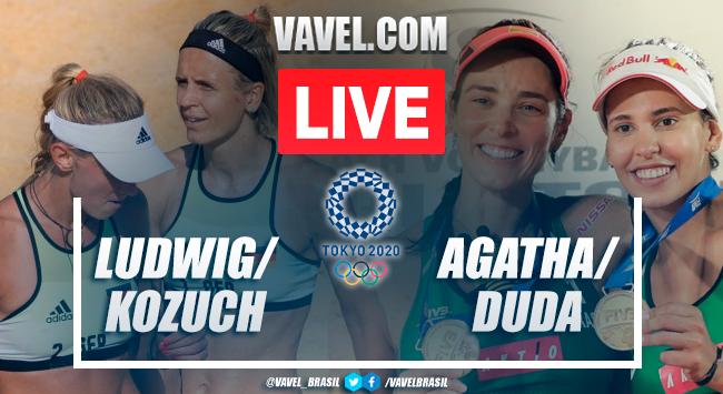 Highlights of Ludwig/Kozuch vs. Agatha/Duda beach volleyball at the Tokyo Olympics (2-1)