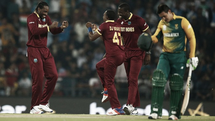 World T20: West Indies qualify for semi-finals after defeating South Africa by three wickets in the final over