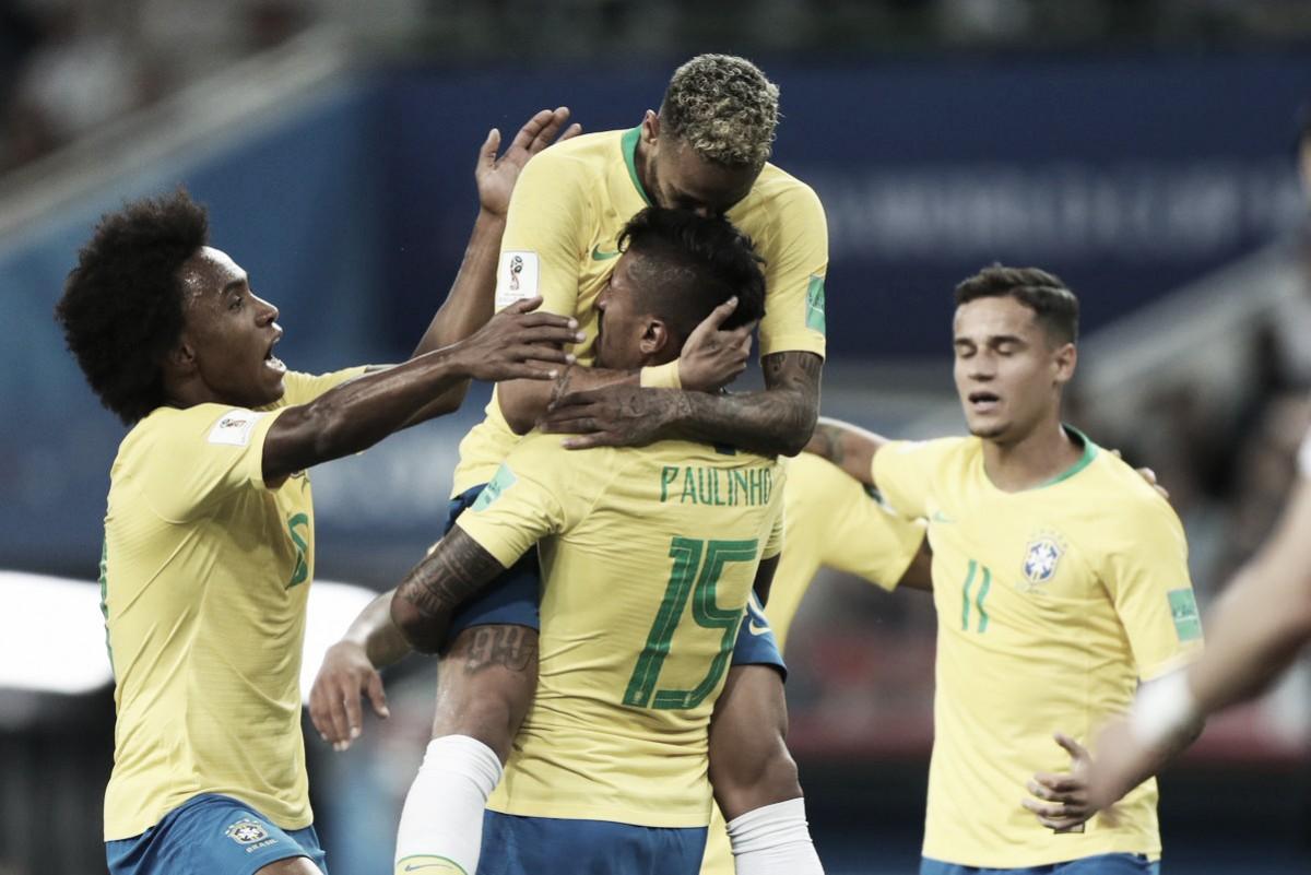 Brasil convence y se queda con el grupo E