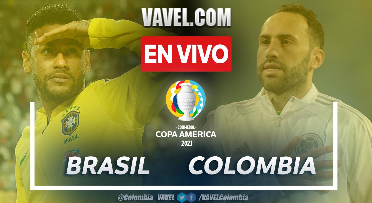 Resumen: Brasil 2 -1 Colombia en Copa América 2021