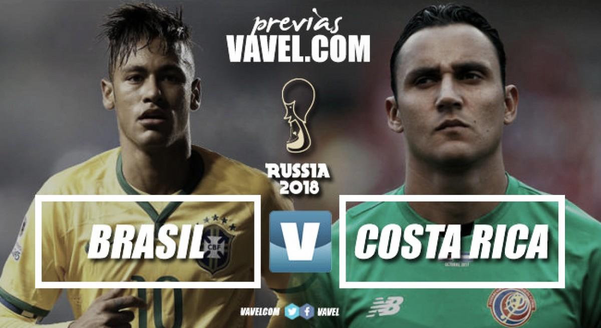 Previa Brasil - Costa Rica: dos americanos en búsqueda del boleto a octavos