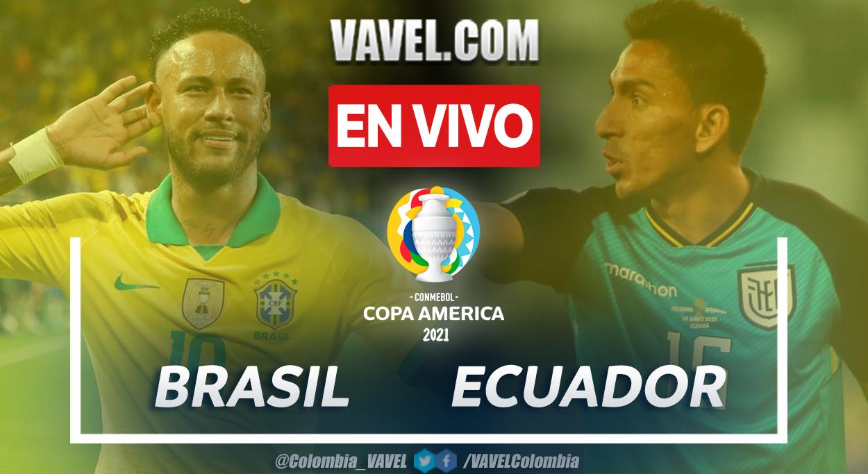 Resumen Brasil vs Ecuador (1-1) en el grupo B de la Copa América 2021
