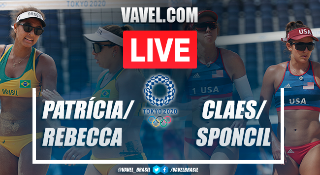 Highlights Patricia/Rebecca vs. Claes/Sponcil in beach volleyball at the Tokyo Olympics (1-2)