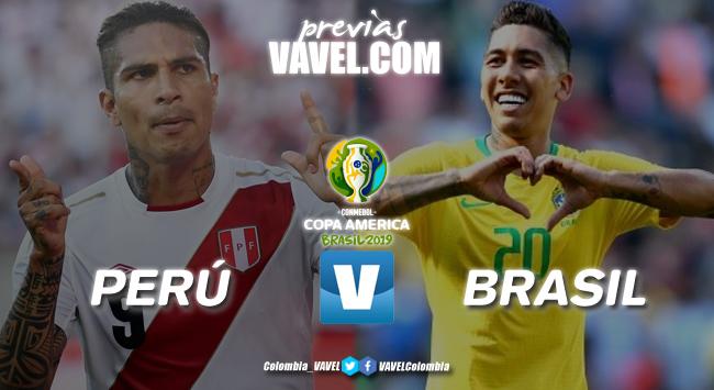 Previa Perú vs Brasil: un duelo en busca del primer lugar del grupo A