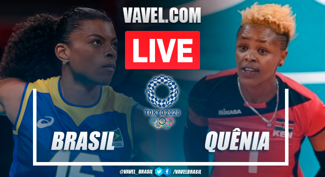 Score and best moments of the Brazil 3-0 Kenya women's volleyball team at the 2020 Tokyo Olympics