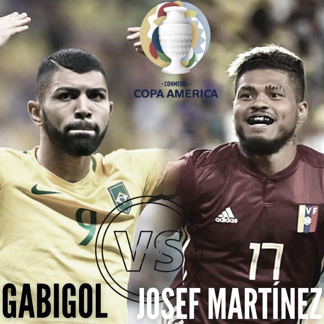 Cara a cara: Gabriel Barbosa vs Josef Martínez
