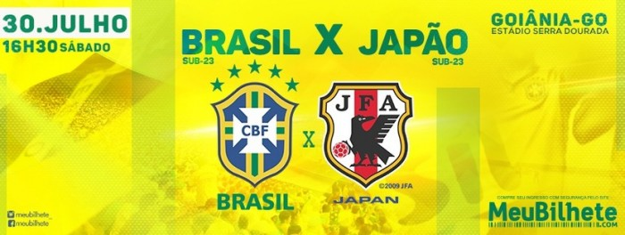 Resultado Brasil x Japão no amistoso da seleção olímpica masculina (2-0)