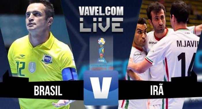 Jogo Brasil x Irã na Copa do Mundo FIFA de futsal (4-4)