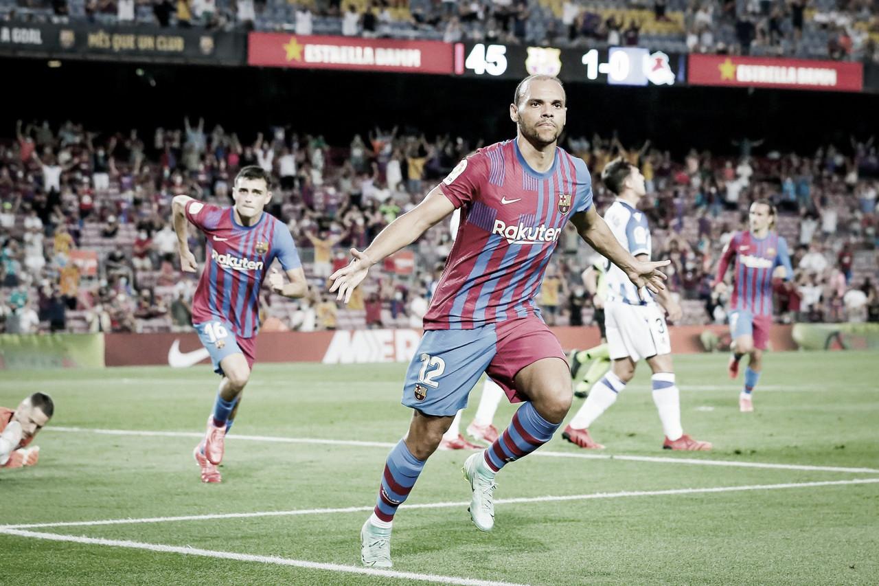 Com show de Braithwaite, Barcelona goleia Real Sociedad na primeira partida sem Messi em LaLiga