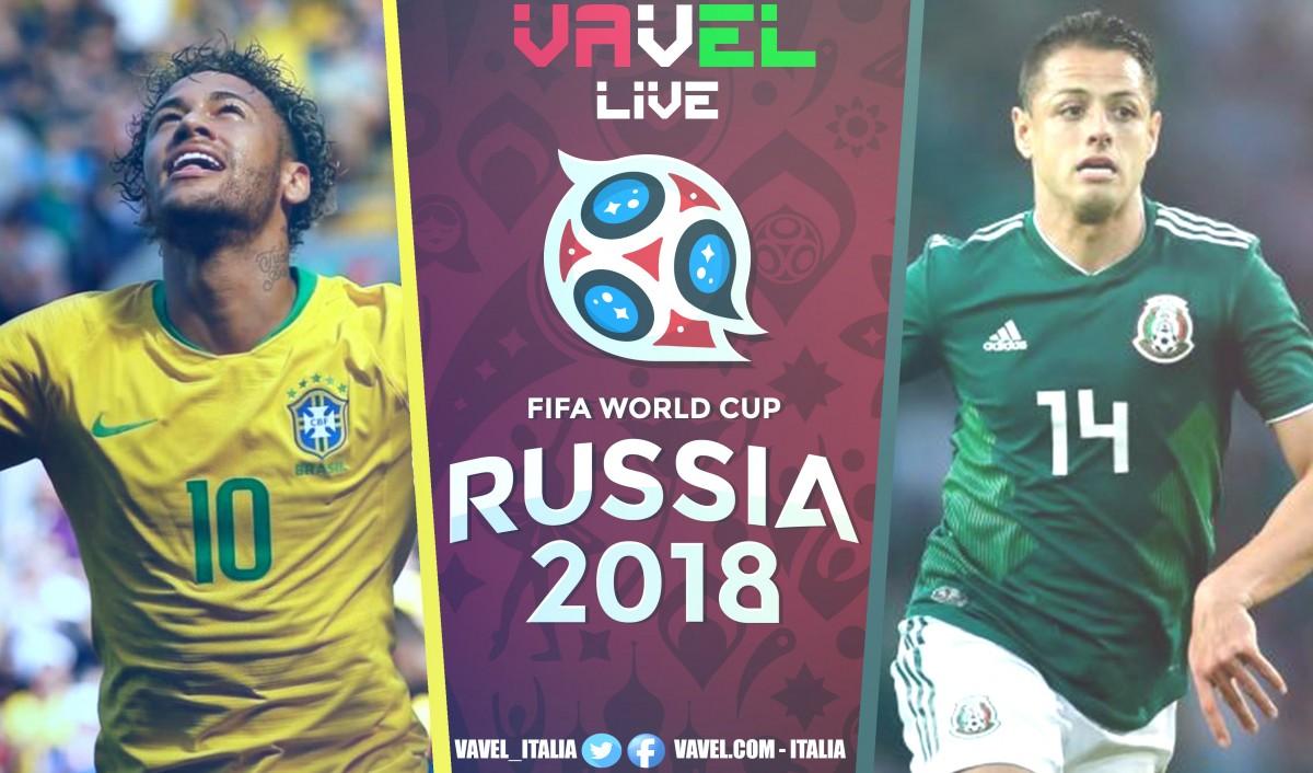 Risultato Brasile - Messico in diretta, LIVE Russia 2018 - Neymar, Firmino! (2-0)