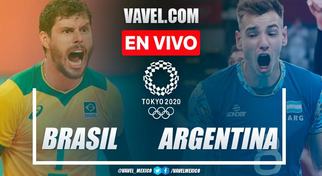 Resumen: Brasil 2-3 Argentina en medalla de bronce del Voleibol Masculino de Juegos Olímpicos 2020