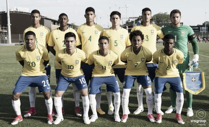 90a374b310 Seleção Brasileira Sub-20 estreia com vitória sobre Indonésia no Torneio de  Toulon. Os garotos ...