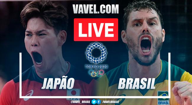Resultado Japão x Brasil pelo vôlei masculino nas Olimpíadas de Tóquio (0-3)